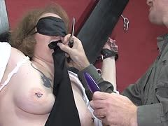 Kidnapped slave must suck and suffer