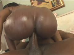 Black bitch gets her asshole fucked