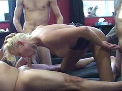 Hot Loreen is fucked in a threesome