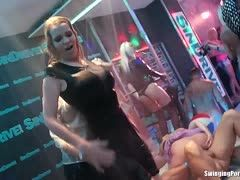 Sexy girls dance at a party