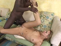 Housewife allows herself her stepson's dark dick