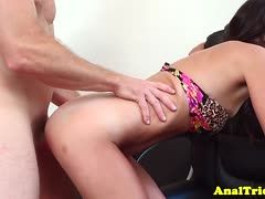 Young babe is fucked with legs spread wide