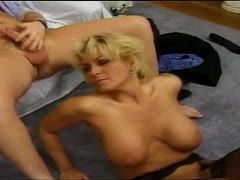 Blonde granny is fucked hard