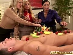 Hot group sex with fruits