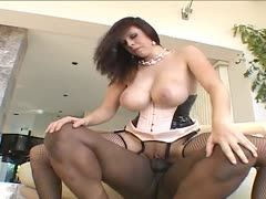 Hard interracial fuck with Gianna Michaels