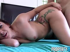 Tattooed girl is fucked doggystyle