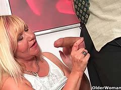 Experienced cock milkers squeeze cum out of cocks