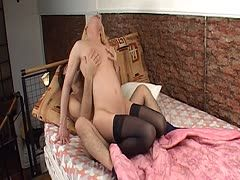 Tranny in nylons rides a wild way