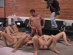 Bi group sex with hot bitches