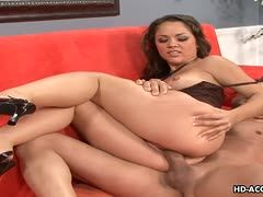 Hot sex on the couch with Kristina Rose