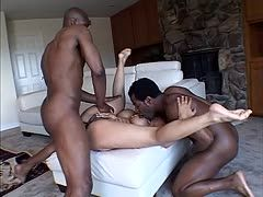 Flexible Ebony is drilled by two bbc