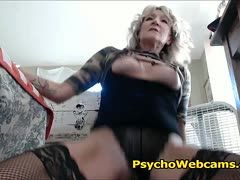 Milf films her solo sex with hot sex toy