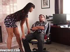 Office sex with Mercedes Carrera and Dane Cross