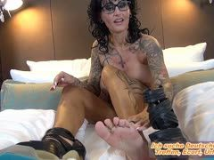 German milf shows you her shoes and feet