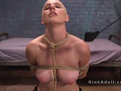 Bondage bitch gets a hard fuck from behind