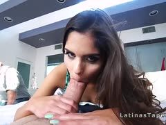 Luscious young Latina is banged pov