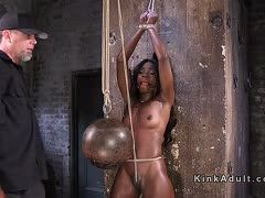 Black cunt in bdsm hell