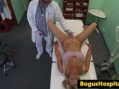Banged by a fake doctor in hospital