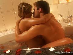 Romantisches Paar hat Sex Hotel