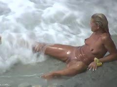 Auf Stränden Masterbating Mädchen nackten Nackt und
