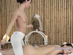 Lesbian massage with cunt sex