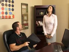 Office sex with sultry secretary