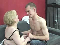 Lustful chubby milf educates juvenile